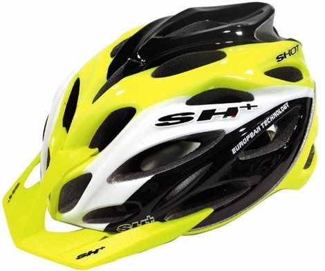 SH Shot XC Bicycle Helmet YellowWhiteBlack