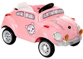 Best Ride on Cars 6V Pink Peace Mobile